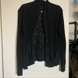 Black thin cardigan 🐠🐠